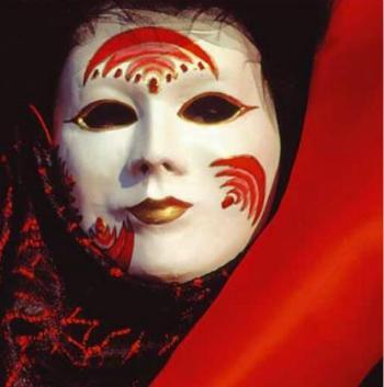 Droschschewaja die Maske für die Person mit dem Ei